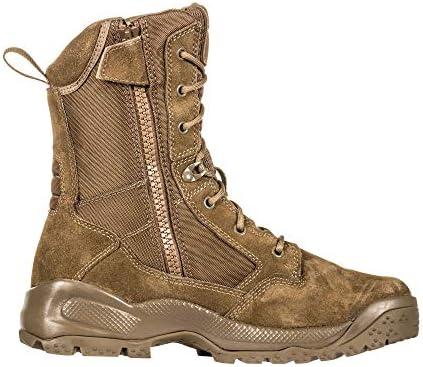 "5.11 Men's ATAC 2.0 8"" Tactical Side Zip Military Boot, Style 12393, Dark Coyote"