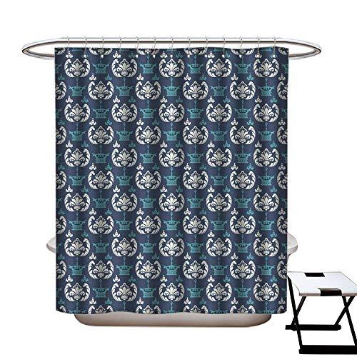 warmfamily Shower Curtain Art Print Polyester Royal Wallpaper Seamless Pattern 3 Shower CurtainW72 x L96