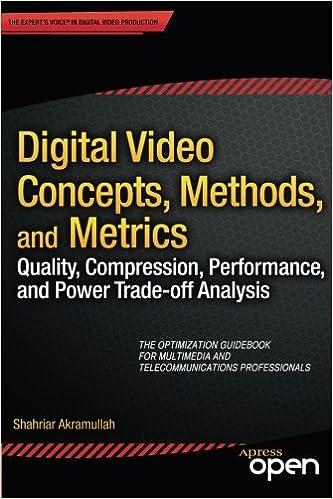 Digital Video Concepts, Methods, and Metrics: Quality,