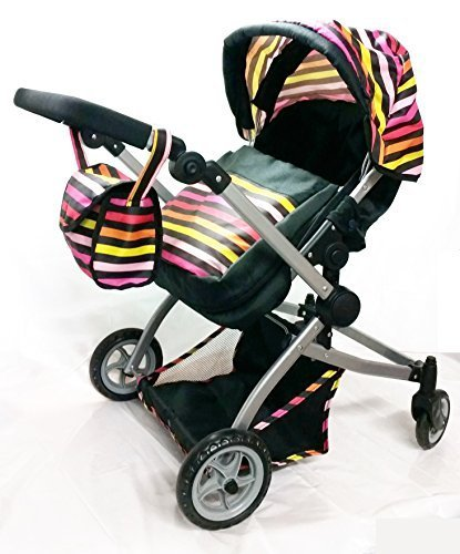 Babyboo Deluxe Little Marcel Look Twin Stroller/Pram with free carriage bag