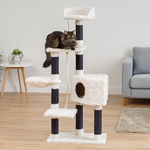"cheap IRIS Four Tier ""Shag Carpeted"" Cat Tree"