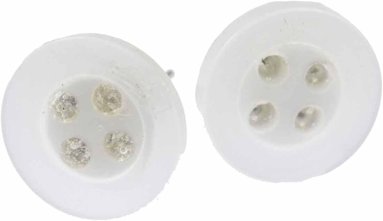 blanco pendientes botón Miniblings pendientes de botones de costura DIY Schneider