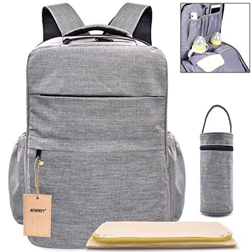 Multi-Pocket Backpack Diaper Bag Insulated Pockets Anti-Wate