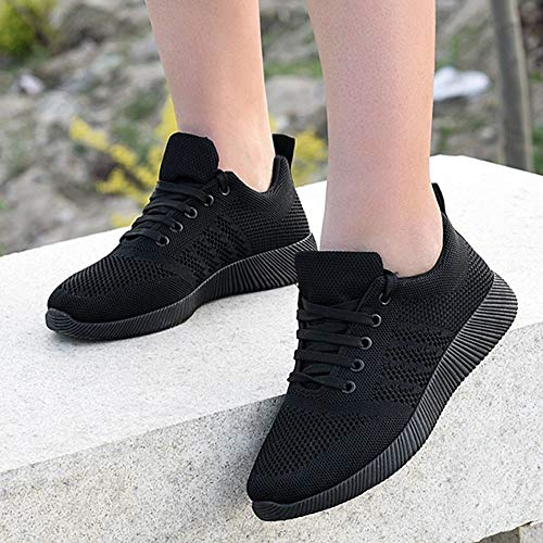 Flying Shoes Black Shoes Casual Women BaZhaHei Shoes Sports Walking Trainers Toe Color Outdoor Women's Shoes Sneakers Round Student 6 Casual Running 5 2 Size 5 Woven Shoes Candy HxxEvp