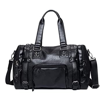 f8a44f28eb90 Amazon.com | Luxury Style Mens Leather Travel PU H bags Duffel Bags ...