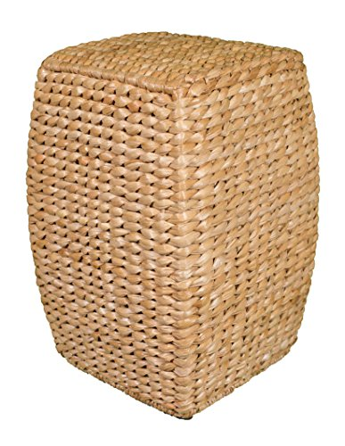 BIRDROCK HOME Seagrass Accent Stool (Natural) | 21 inch Stool ()