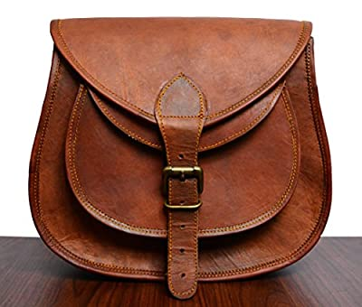 ADIMANI Hippe Leather Purse Crossbody Shoulder Bag Travel Satchel Women Handbag Bag 11'' inches