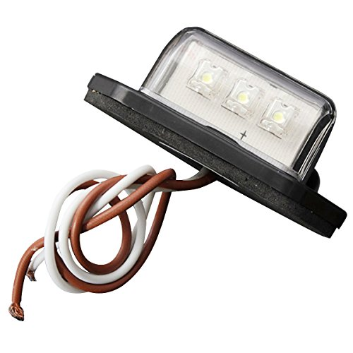 car license plate lamp - TOOGOO(R) 12/24V 3 LED LICENSE PLATE TAG LIGHT BOAT RV TRUCK TRAILER INTERIOR STEP LAMP