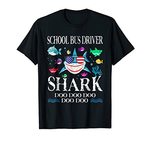 School Bus Driver Shark Doo Doo Doo T-Shirt Gift
