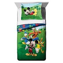 Disney Mickey Mouse Club House Adventure Twin Comforter & Sham Set