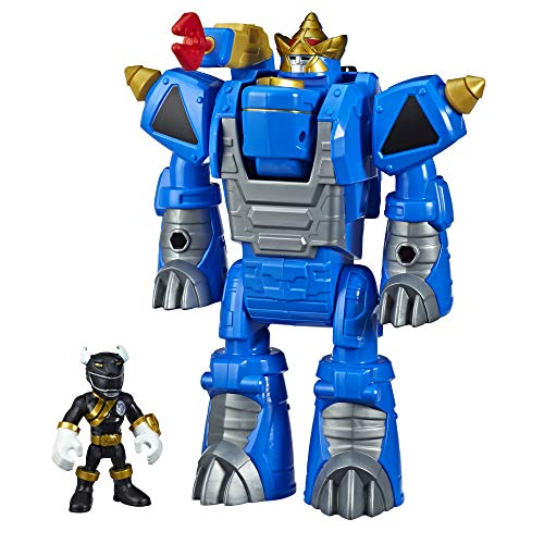 (Playskool Heroes Power Rangers Morphin Zords Black Ranger and Rhino Zord 3-Inch Action Figures, Collectible Toys for Kids Ages 3 and Up)