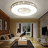 Fu Man Li Trading Company LED children room star light creative simple warm round boy girl bedroom bedroom lights lights A+ ( Color : White , Size : 60cm40W )