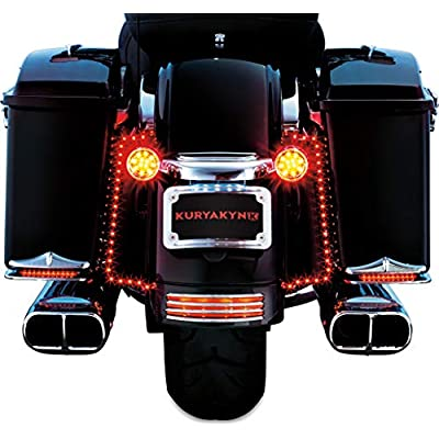 Kuryakyn 3156 Rear Motorcycle Accessory: Turn Signal Bar Filler Panel for 2010-19 Harley-Davidson Motorcycles, Chrome: Automotive