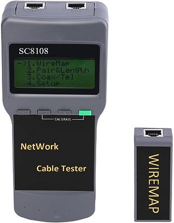 Comprobador de Cables de Red SC8108 Buscador de Puntos de Interrupción Prueba de Longitud Telémetro.