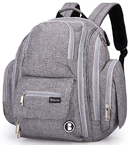 Diaper Bag Backpack by Bliss Bag for Girls, Boys, Twins,...