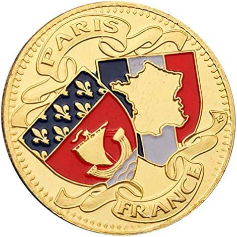 Fudeza 2019 Nuevo Conmemorativas Moneda Colección Paris Torre de Oro Francia Europa Dinero Francés Moneda Escudo de Armas: Amazon.es: Juguetes y juegos