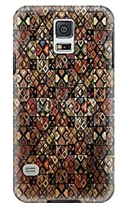 Simply Case Designs Grunge Inca Pattern Design PC Material Hard Case for Samsung Galaxy S5