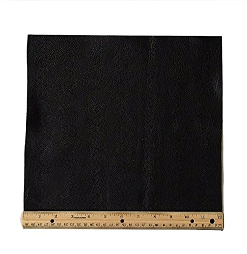 Upholstery Leather Piece Black Cowhide Light Weight 12