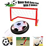 jixun Kids Toys, Hover Soccer Ball Set,LED Soccer Goals Set - Air Power Floating Football with LED Lights for Children Gifts