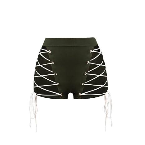Ropa Transparente Net Corbata Shorts y Pantalones Cortos,El Verde ...