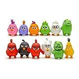 Angry Birds Figures - 12 Pcs Set PVC Action Characters Toys 3cm - 4cm