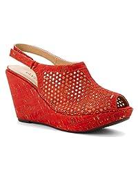VANELi Women's Emmalee Red Leol Cork sandals 9 N