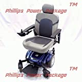 Golden Technologies - Compass Sport - Mid-Wheel Drive Power Chair - Blue - PHILLIPS POWER PACKAGE TM - TO $500 VALUE