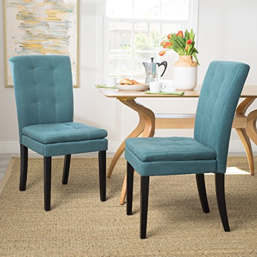 Christopher Knight Home 300404 Badin Dining Chair (Set of 2), Dark Teal (Chairs Dining Turquoise)