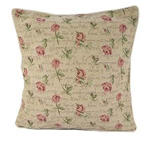 Twilleys - Funda para cojín, diseño gobelino belga con estampado de rosas