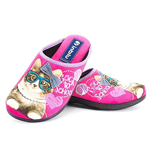 MADE IN ITALY INBLU BQ -110 pantofole pianelle ciabatte slippers donna panno microfibra fuxia