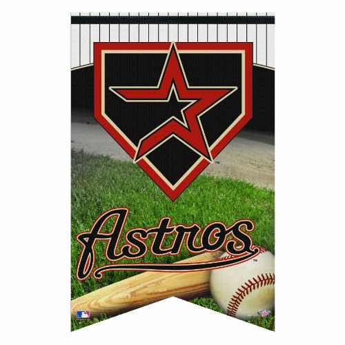 UPC 043662190719, MLB Houston Astros Premium Felt Banner 17-by-26 inch