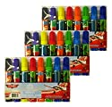 Set of 3 Disney Planes 8-Pack Childs Markers Assorted Colours 8.9cm Marker