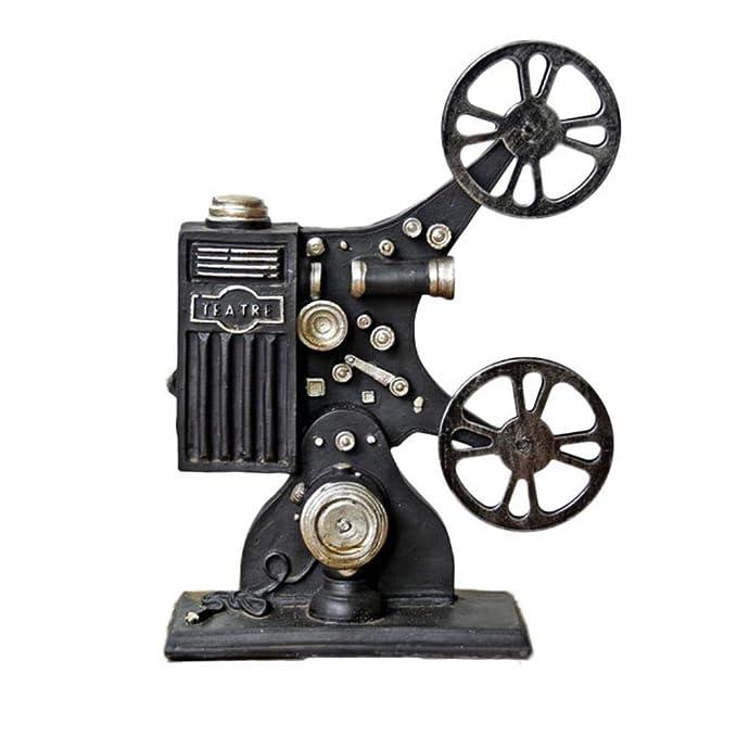 THREESS Ornamento del proyector de Resina Vintage Modelo Retro ...
