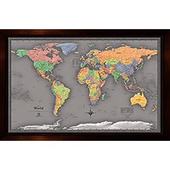 Amazon homemagnetics mm3624wld magnetic travel map of the world homemagnetics 37 x 25 modern world magnetic map gumiabroncs Choice Image