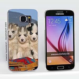 Funda Carcasa dura para Samsung Galaxy S6 - Perros huskies siberianos