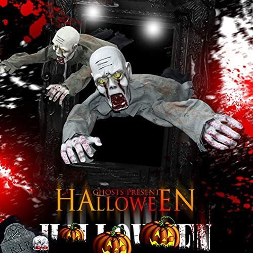 Halloween Decorations Electric Scary Crawling Ghost Zombie Haunted House Horror Props Party Toys