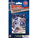 Chicago Cubs 2017 Topps Baseball EXCLUSIVE Special Limited Edition 17 Card Complete Team Set with Kris Bryant, Kyle Schwarber, & Many More! World Series Champions! Shipped in Bubble Mailer! WOWZZER!