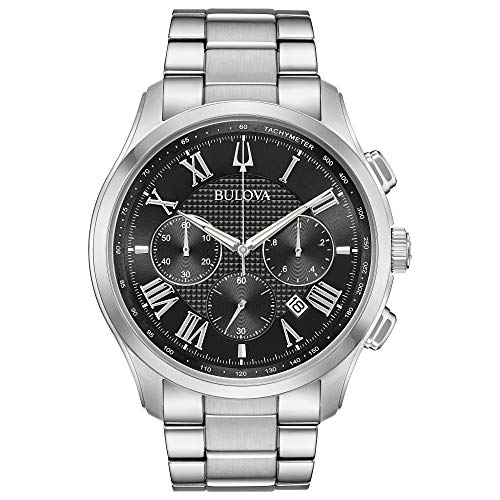 Bulova Classic Wilton Black Dial Stainless Steel Men's Watch ()