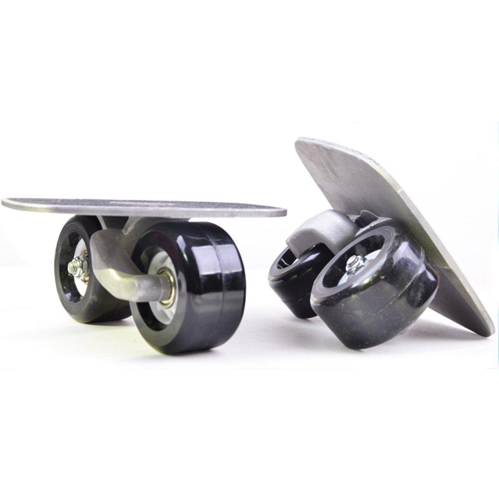 ドリフトボードフリーラインスケートフラッシュ大人の子供4輪スプリットプロスケートボード旅行サイレントホイールバイタリティボード B07FM6F2H1  Black