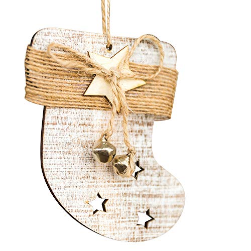 Mysky Christmas Decor Gifts Wooden Pendant Tree Ornament Party Home Hanging Decor