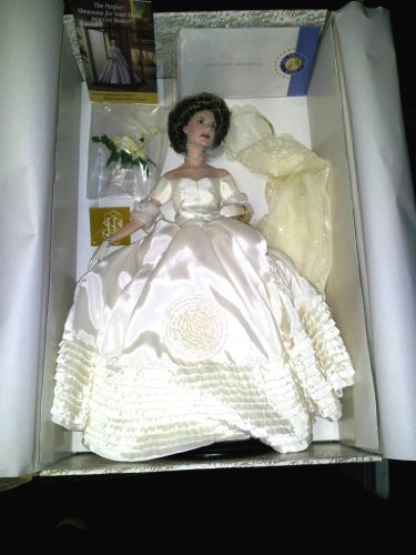 - Jacqueline Kennedy Porcelain Heirloom Bride Doll by The Franklin Mint