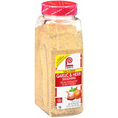 Lawry's Salt Free Garlic & Herb Seasoning, 20 Ounce by Lawry's