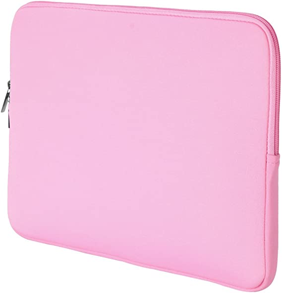 Cute Bunny Rabbit Seamless Pink Pattern Neoprene Sleeve Pouch Case Bag for 11.6 Inch Laptop Computer Designed to Fit Any Laptop//Notebook//ultrabook//MacBook with Display Size 11.6 Inches