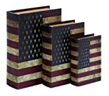 Woodland Imports American Flag Theme Book Box
