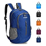 Prospo Packable Lightweight Shoulder Backpack Water Resistant Medium Hiking Traveling Cycling Carry On Daypack Women Men(Dark Blue)