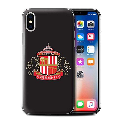 Officiel Sunderland AFC Coque / Etui pour Apple iPhone X/10 / Noir Design / SAFC Crête Club Football Collection