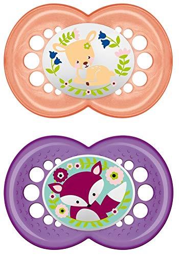 MAM - Chupete de silicona para niña, 16 meses, 2 unidades ...