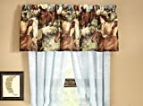 Majestic Running SHOW HORSES & PONIES Brown Window Treatment VALANCE (ONLY) 18''L x 84''W