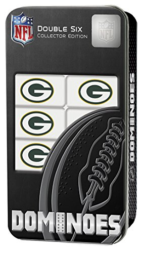 Bay Green Tin Nfl Packers (MasterPieces NFL Green Bay Packers Dominoes Game)