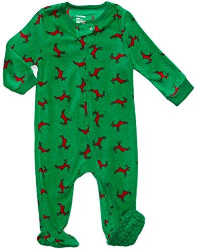 Reindeer Fleece - Leveret Footed Fleece Sleeper Reindeer 6-12 M